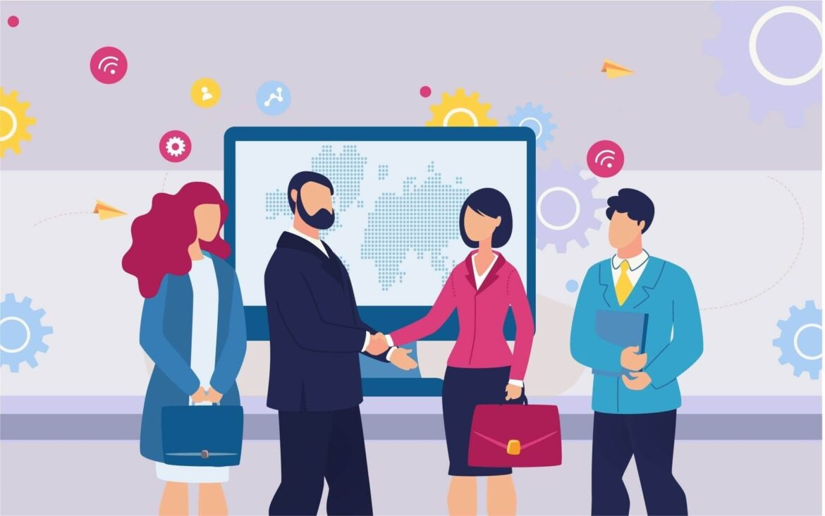 How technology supports business communication and commercial goals?